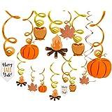 Jblcc 30カラット 秋 感謝祭 吊り下げ 渦巻き デコレーション - 秋/感謝祭テーマのデコレーション パーティー用品