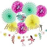 Easy Joy 誕生日/100日お祝い/ベビーシャワー/結婚式飾り付けセット ハワイアン風 8点入 インテリア 写真背景 お店の装飾も