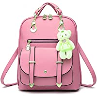 Pahajin Ladies backpack fashion new student casual shoulder bag PU leather backpack