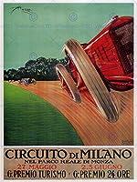 Sport Motor Monza Milan Italy Racingビンテージポスターアート印刷12x 16インチ30x 40cm 908py