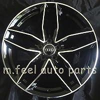 (アウディ)AUDI対応 19インチホイール (エーイチイチキューロク) A1196 インセット+35mm ポリッシュ/ブラック ハブリング付
