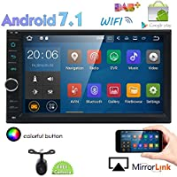 Eincarスタンダードダブルディンアンドロイド7.1インダッシュカーステレオラジオ32GB + 2GBオクタコアGPSナビゲーションサポート4G WIFI BluetoothミラーリンクサブウーファーOBD2無料のリアカメラ付きGoogle Play