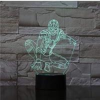 3Dナイトライト7カラフルなグラデーション雰囲気ランプ3D LEDナイトライトUSBテーブルベッドサイドランプ3Dグローブランプクリスタルパレス3D錯視ランプ