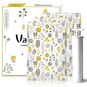 Vacplus ふとん 圧縮袋 3枚組【 100×80cm×3枚 ポンプ付き 終身交換承り】 衣類圧縮袋 布団圧縮袋 ダニ、カビ対策 (100×80cm)