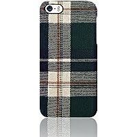 Simplism  iPhone SE/5s/5 [NUNO] バックケース グリーンチェック TR-FCFIP16E-GC