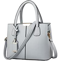 B&E Life Stylish Women Pu Leather Vertical Utility Top Handle Handbag Satchel Tote Purse Bag