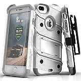 Zizo Bolt Case For iPhone 7 Plus プラス ボルト ケース 耐衝撃 スタンド付き 強化ガラス 極薄 0.33mm 硬度 9H 液晶 保護フィルム 付属 7 / 6 / 6s Plus プラス 対応 【正規代理店品 】 ホワイト/グレー