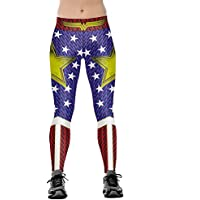 JORYEE Women's 3D Digital Ultra Soft Leggings XS-3XL Regular and Plus Size
