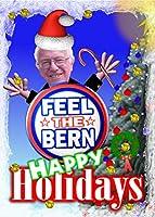 "Feel the Bern Holidays 5"" x7""カード+封筒–空白"