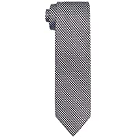 Van Heusen Men's Tie Navy Mini Check, Assorted, One size