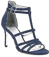 [アドリアナパぺル] シューズ サンダル Adara T-strap Lace Dress Sandals Navy レディース [並行輸入品]