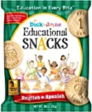 Dick & Jane Educational Snacks -English & Spanish- 60 Bags (Bilingual Edition Features 10 Numbers & 50 Vocab Words) by Dick and Jane Educational Snacks [並行輸入品]