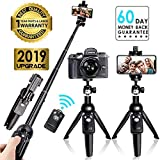 YUNTENG® Bluetooth Selfie Stick Tripod, Extendable Foldable Aluminum Selfie Stick with Detachable Wireless Remote for iPhone, Android, Digital Cameras and GoPro