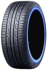 ダンロップ LEMANS4 225/60R16 カスタムプリント青白青ライン 4本セット