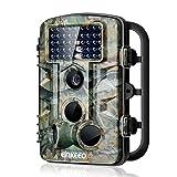 enkeeo トレイルカメラ 42赤外線LED 1080P HD 1200万画素 120°検知範囲 0.2~0.6s高速トリガ IP54防水 動体検知 狩猟 防犯などに 日本語取扱説明書付 PH730【メーカ保証】