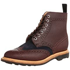 Mark McNairy Country Brogue Boot 9134-TDGAS: Army Brown / Suede Navy