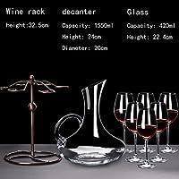 Be&xn ワインのデカンタ セット,無料クリスタル ガラス デキャンタ 1000 ml ・ 1500 ml をリード,ワイン アクセサリー赤ワイングラス レストラン ワイナリー結婚記念日バー用 420 ml-D