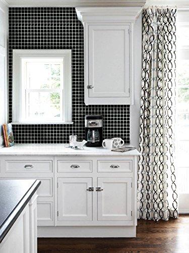 RoomClip商品情報 - 【 Dream Sticker 】モザイクタイルシール キッチン 洗面所 トイレの模様替えに最適のDIY 壁紙デコレーション ALT-19 ブラック Black 【 自作アートインテリア / ウォールステッカー 】 貼り方説明書付属 (1枚)