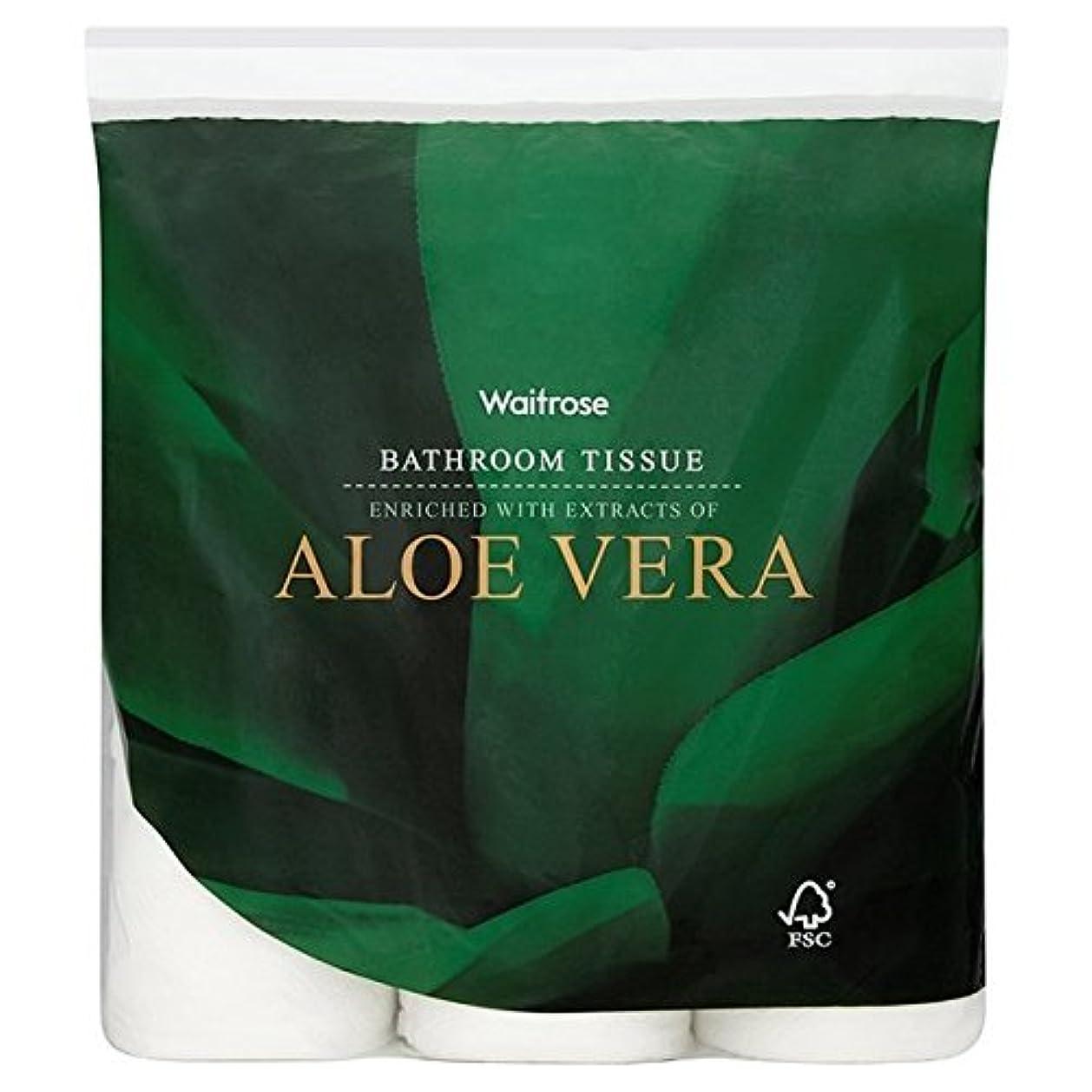 毎年アッパー適度なパックあたりアロエベラ浴室組織白ウェイトローズ9 x4 - Aloe Vera Bathroom Tissue White Waitrose 9 per pack (Pack of 4) [並行輸入品]