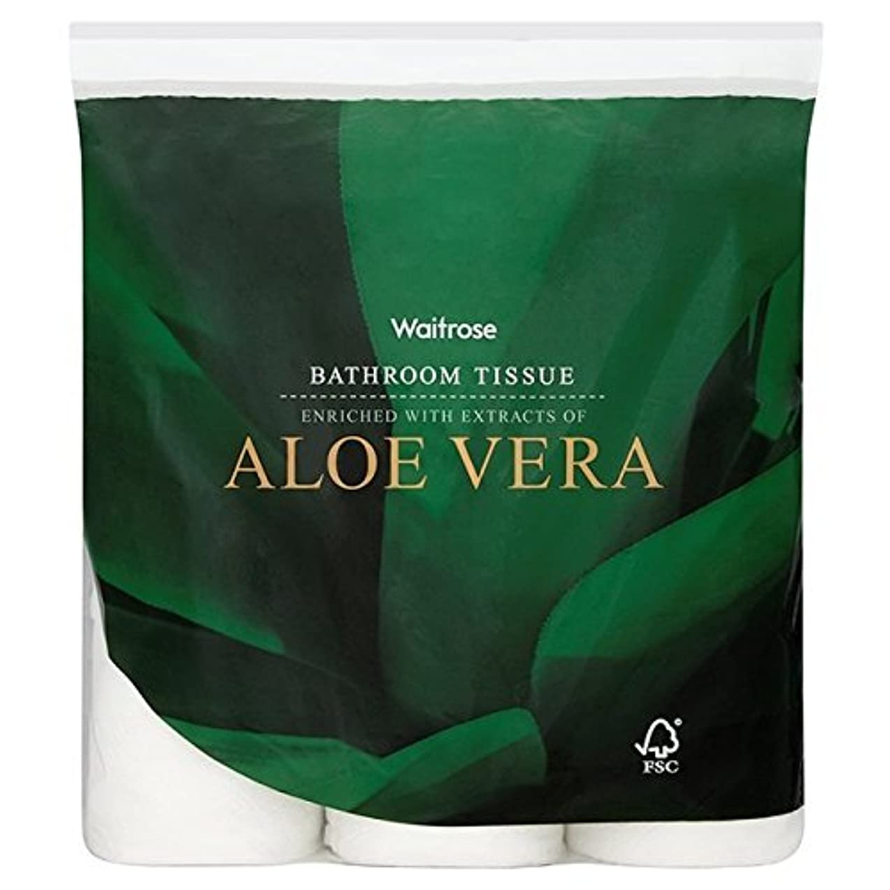 通りジーンズ慣れるパックあたりアロエベラ浴室組織白ウェイトローズ9 x4 - Aloe Vera Bathroom Tissue White Waitrose 9 per pack (Pack of 4) [並行輸入品]