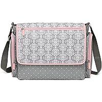 Javababy マザーズバッグ トートバッグ 大容量 ママバッグ 軽量 おむつ替えシート付 ベビー用品収納 メアリーフラワー(ピンク)