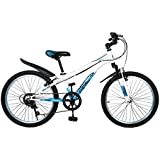 Cyfie ホーク 子供用自転車 全2サイズ 22インチ:6段変速 スタンド型;18インチ:変速なく 補助輪付き;前と後ろブレーキ付き 二つ泥よけ付き 軽量 高炭素鋼フレーム 簡単に安装
