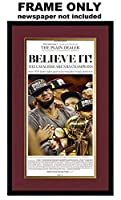 The Plain Dealer Newspaper Frame - with Cleveland Cavaliers Colors Double Mat [並行輸入品]