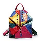 (オマン)WO MAN WEI SI レディース 本革 レザー リュック バッグ 鞄 ショルダー OL 通勤 通学 旅行 リュックサック レディース シンプル (カラー)