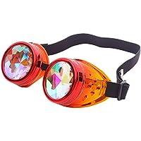 万華鏡メガネ カラフル 偏光サングラス 太陽眼鏡 男女兼用 軽量 眼鏡メガネ ライディングメガネ Halloween Christmas Party サングラス 抗UVレベルUV 1 0 0% 合金+樹脂材質 製 Sunglasses Racazing