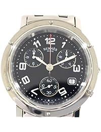 [エルメス] HERMES クリッパークロノ 時計 ウォッチ シルバー ステンレススチール(SS) CL1910.330.3829 [中古]