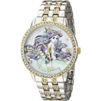 Disney Disney Women's W001828 Ariel Analog Display Analog Quartz Two Tone Watch [parallel import goods]