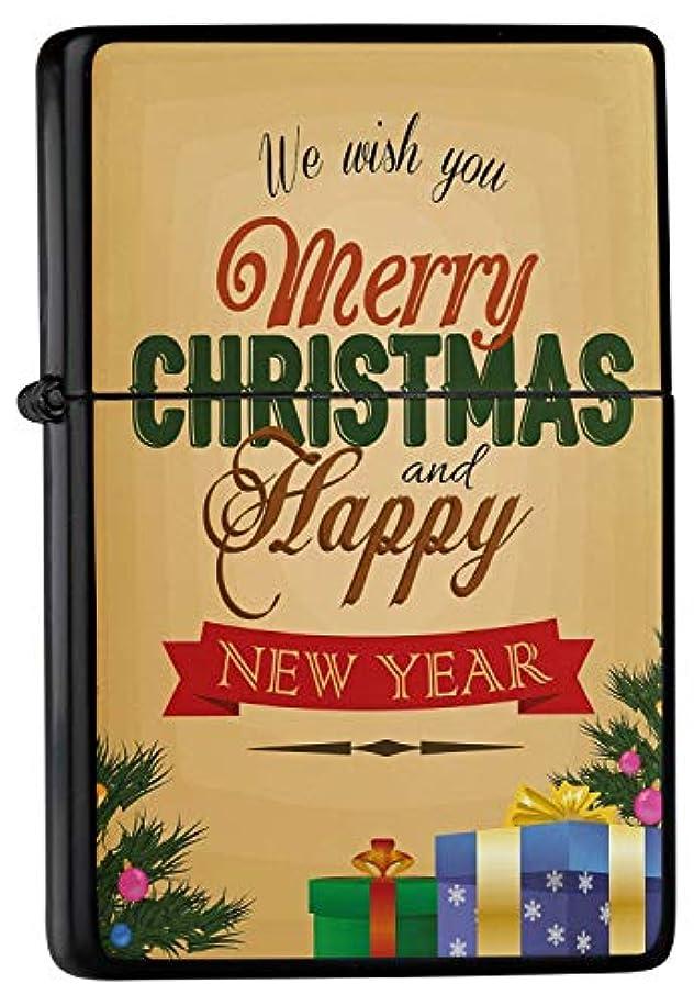 バケツ性交以内にPocket Windproof lighter ライター Brushed Oil Refillable Merry Christmas