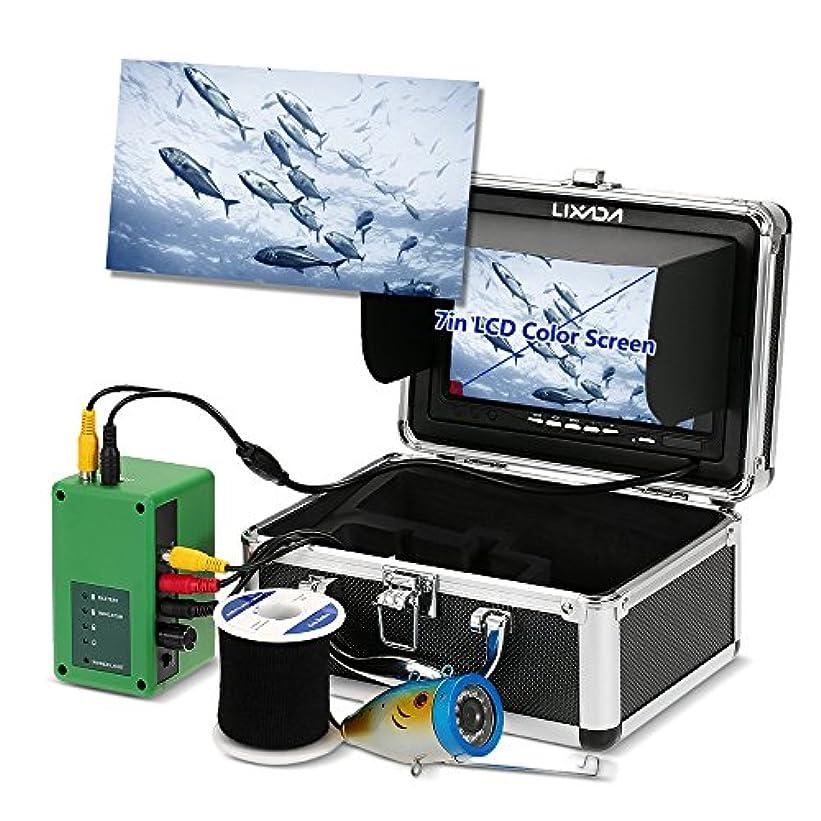 LIXADA 魚群探知機,水中釣りカメラ,イプライン検査カメラ 防水 排水管 下水道検査カメラ 12LEDナイトビジョン パ工業用内視鏡検査システム 7インチ液晶モニター1000TVL 15mケーブル