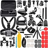 Neewer 58-In-1 Action Camera Accessory Kit Compatible with GoPro Hero 8 Max 7 6 5 4 Black GoPro 2018 Session Fusion Silver White Insta360 DJI AKASO APEMAN Campark SJCAM Action Camera etc