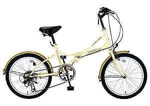 My Pallas(マイパラス) 折りたたみ自転車 SC-08-CM 20インチ 6段変速 クリーム
