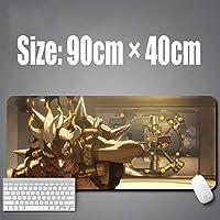 WXYXG オーバーウォッチレジェンダリーゲームデザインPCゲームレースエクステンデッドゲーミングマウスマット/パッド-大型、ワイドマウスパッド、ステッチエッジ (Color : A, Size : 600mm × 300mm-5mm)