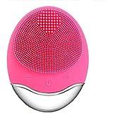 シリコーン電気クレンジング器具、洗顔毛穴クリーナーマッサージフェイス、イントロデューサー + クレンジング器具 (1 つ2個),Rosered