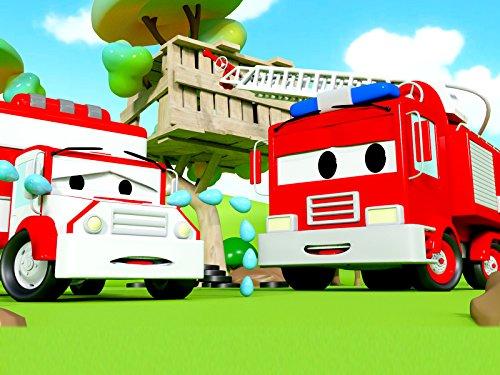 アンバーのサイレンが行方不明&ボビー危機一髪そして, 消防車とパトカーのカーパトロール|子供向けのカー&トラックアニメ