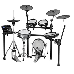 Roland V-Drums TD-25KV-S Ultra+ (Plus) 【純正オプションセット(マット・ペダル・イス・スティック)】 Pearl製ハイハットスタンド・スネアスタンド付き