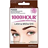 1000 HOUR Eyelash & Brow Dye Kit, Dark Brown, 72 g