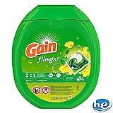 Gain Flings Laundry Detergent Pacs (81 Pacs)ゲインオールインワン 濃縮洗剤+OXi ブライトナー+ファブリーズ 香り豊か 81個【並行輸入品】