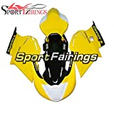 Sportfairings グラスファイバートラック外装部品セット適応フィックMV AGUSTA F4 750/1000 2000 2009 01 02 03 04 05 06 07 08カバーフェアリングキット白い黄色い