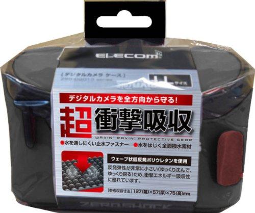 エレコム デジタルカメラケース ZEROSHOCK LLサイズ ブラック ZSB-DG013BK 1個 ELECOM