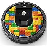 iRobot ルンバ Roomba 専用スキンシール ステッカー 960 980 対応 ユニーク その他 ブロック カラフル 001168
