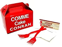 COMME des GARCONS×CONRAN コムデギャルソン マッチ+フォーク+ナプキン+ケーキボックス4点セット 079713 【中古】