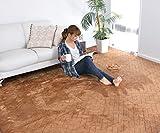 なかね家具 洗える フランネルカーペット 大判サイズ ホットカーペット カバー 長方形 カーペット 無地 ラグカーペット 江戸間6畳(261x352) ブラウン 217kuramixi