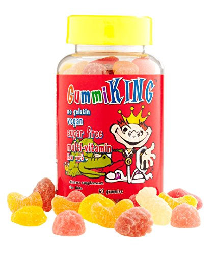 King, Sugar-Free Multi-Vitamin, For Kids, 60 Gummies