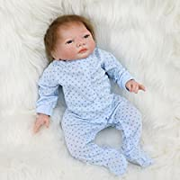 Pursue Baby Real LifeソフトボディRebornベビー人形with磁気口、Mummy 's Little Love、17インチReal Life新生児幼児人形Weighted for Cuddle