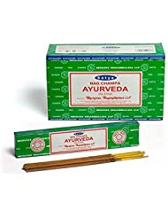 Buycrafty Satya Champa Ayurveda Incense Stick,180 Grams Box (15g x 12 Boxes)
