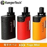 電子タバコ スターターキットVape Kit、Kangertech Togo Mini 2.0 1600mAh内蔵バッテリー オールインワン ボックスMOD CLOCCコイル1.0Ω 1.9mlタンク トップフィル液漏れ防止 禁煙減煙サポート(レッド)